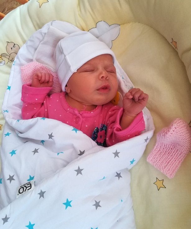 Monika Hejnová se narodila 20. března v 9:38 v hořovické porodnici. Po porodu vážil 3590 g a měřila 49 cm. Se šťastnou maminkou Monikou Hejnovou Vydrovou a tatínkem Antonínem Hejnou bude bydlet v Drhovech.