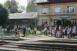 Drezína na vlakovém nádraží ve Střezimíři.
