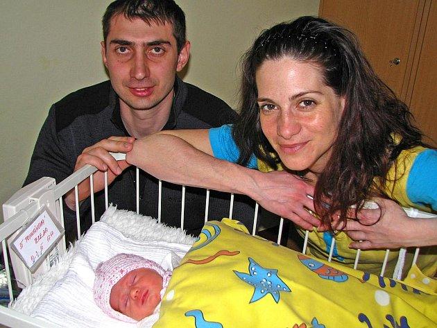 Terezka (2,55 kg, 46 cm) se narodila 10. března ve tři čtvrtě na šest večer manželům Vasilce a Michalovi Pohnánovým. Doma ve Voticích už jistě chystá postýlku celá rodina.