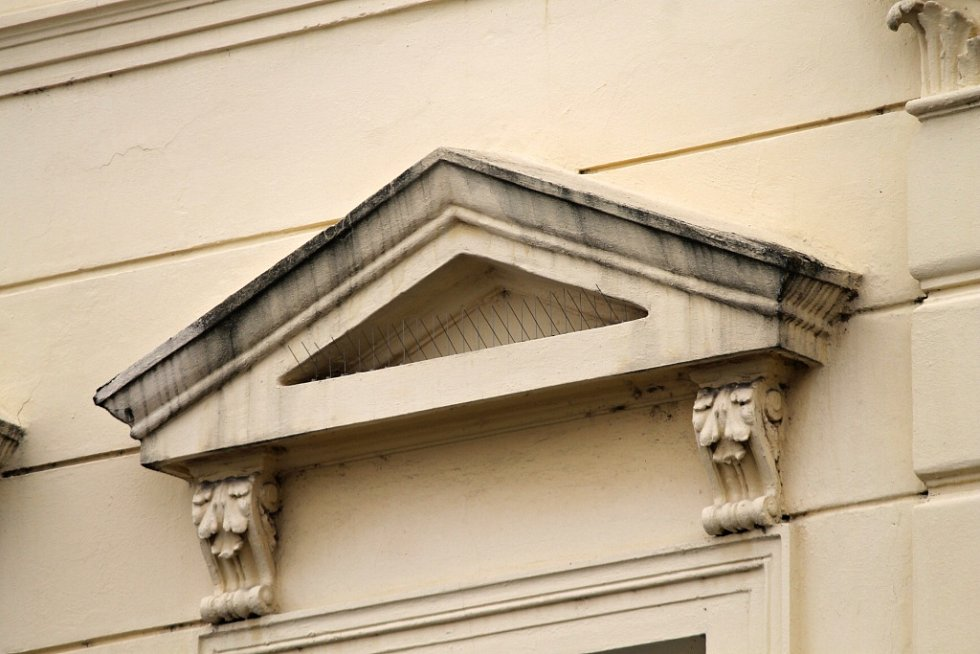 Stopy života zdivočelých holubů v Benešově - okresní soud.