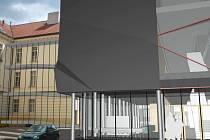 Právě tak by měla vypadat při pohledu z jihu nová budova gymnázia. Navrhl ji architekt Jiří Šafr