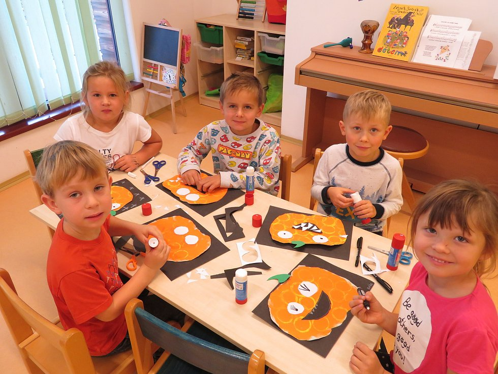 Dýňobraní v mateřské škole MiniSvět Mrač.