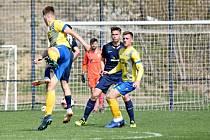 Litoměřice (ve žlutém) doma nestačily na Benešov, ten vyhrál 4:2.