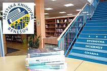 Městská knihovna Benešov s novým logem.