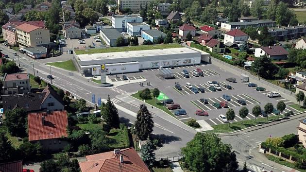 Vizualizace stavby obchodního domu v benešovské ulici Červené Vršky.