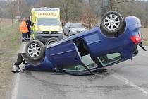 Nehoda u odbočky na Žabovřesky se stala v úterý ve 14.20 hodin.