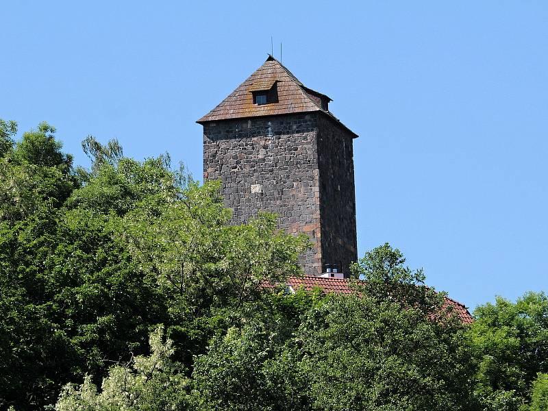 Hrad Týnec nad Sázavou.
