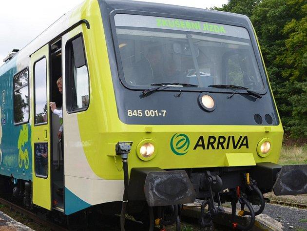 Soupravy Arriva by měly z Benešova do Prahy vyjet v pondělí 29. února.