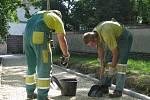 V Táborské ulici v Benešově jsou už nové chodníky