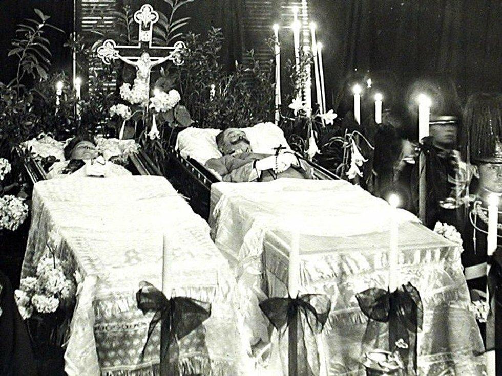 František Ferdinand d´Este a vévodkyně Žofie z Hohenbergu, rozená Chotková zemřeli v Sarajevu při atentátu 28. června 1914. Foto: