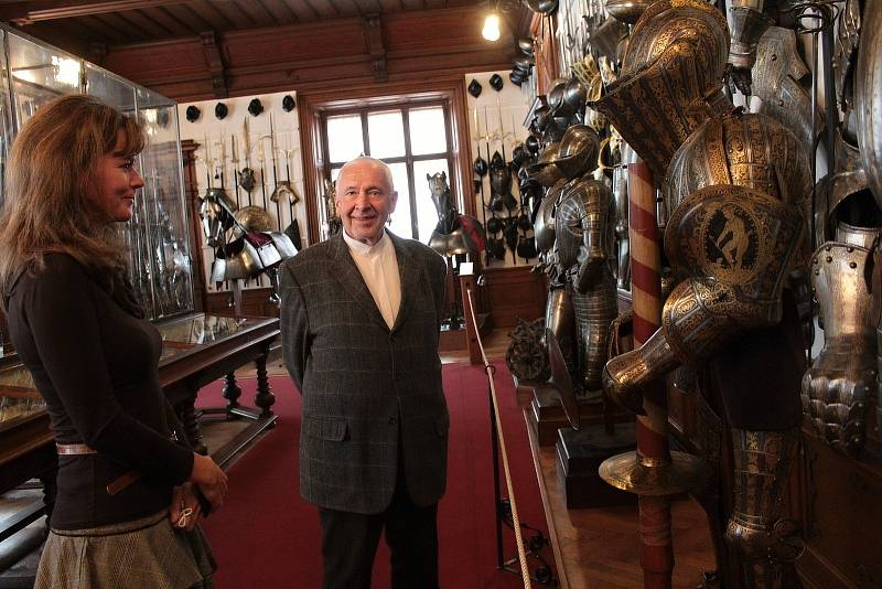Ve zbrojnici na zámku Konopiště.