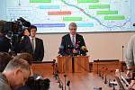 Z tiskové konference na Ministerstvu dopravy 21. února 2020.