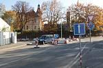 Dopravní situace kolem Hodějovského ulice v Benešově.
