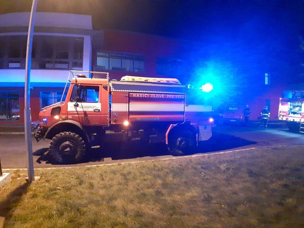 Požár v areálu výzkumného ústavu Biocev ve Vestci v okrese Praha-západ.