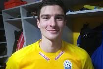 Střelec prvního benešovského gólu ve Velvarech Patrik Švantner.