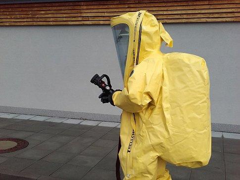 Prověřovací cvičení jednotek požární ochrany ve Vlašimi.