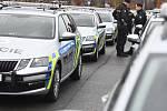 Z předání nových policejních vozů Škoda Octavia Combi.