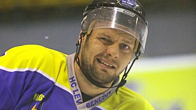Michal Holeš v dresu benešovských Lvů.