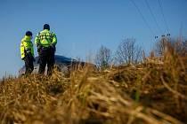 Policejní kontrola na hranicích okresů. Ilustrační foto.