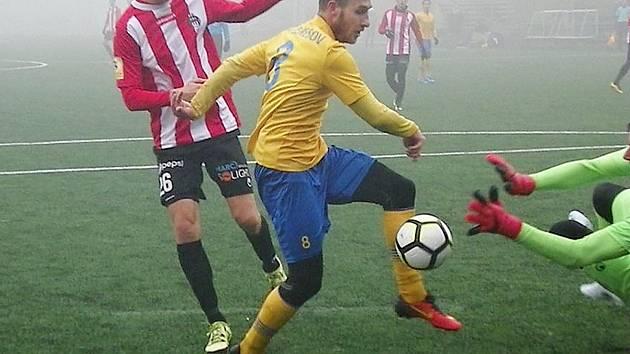 Fotbalová příprava: Benešov - Viktoria Žižkov 1:1.