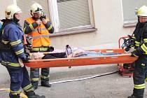 Prověřovací cvičení složek Integrovaného záchranného systému v benešovské nemocnici.