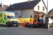 K dopravní nehodě se zraněním motorkáře došlo v pondělí 17. února před 16. hodinou.