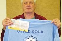 Miloslav Peroutka z Vlašimi si ve 4. kole dokráčel pro vítězství ve Fortuna lize, za které dostal tričko a stokorunovou poukázku od sázkové kanceláře Fortuna