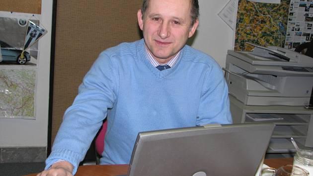 Karel Šebek při on-line rozhovoru v redakci Benešovského deníku.