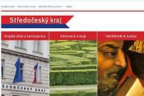 Webové stránky KÚ Středočeského kraje.