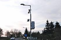 Rychlostní radar v Chlístově.