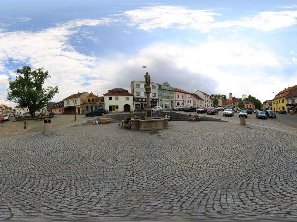 Panoramatické pohledy na Žižkovo náměstí