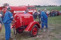 KLENOT techniky, motorová stříkačka, kterou dobrovolní hasiči z Krusičan koupili v roce 1948 od firmy Bert.