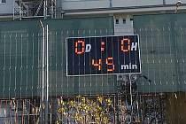 O poločase byla stav Loko Vltavín - Benešov 0:0.