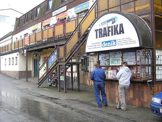 Trafika ve Vnoučkově ulici.