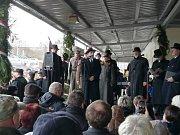 Rekonstrukce cesty prezidenta Masaryka z exilu do vlasti.