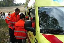 Na místo nehody dorazili hasiči i záchranka
