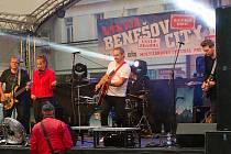 Z vystoupení skupiny RockTom na multižánrovém festivalu Benešov City Live.