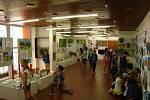 Návštěvníci výstavy v benešovském DDM se mohou pokochat výtvory dětí.