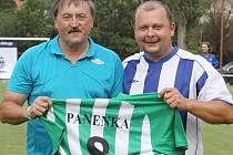 Antonín Panenka a předseda Slovanu Velvary David Vedral.