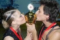 Pavel Sirotek s tehdejší sportovní partnerkou Veronikou Šindelářovou si z mistrovství světa v Rusku přivezli zlato.