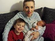 Slavnostním dnem pro Kateřinu a Vladimíra Šmídovy je 14. leden. V 6.42 se jim narodil malý Nikolas. Při příchodu na tento svět vážil 3,22 kg a měřil 48 cm. Doma v Benešově má brášku Sebastiana (3,5).