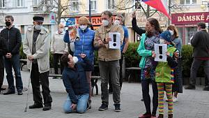 Demonstrace 'Hrad za hranou, republika v ohrožení' na Masarykově náměstí v Benešově