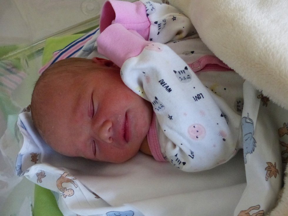 Lucie Vařečková se narodila 30. března 2021 v kolínské porodnici, vážila 2660 g a měřila 48 cm. V Kolíně se z ní těší bráška Honzík (6) a rodiče Soňa a Pavel.