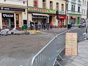 Tyršova ulice v Benešově v prosinci roku 2018.