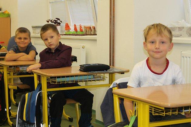 Prvňáčci ze ZŠ Vrchotovy Janovice ve školním roce 2019/2020.