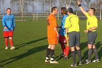 Fotbalový zápas I. B třídy Trhový Štěpánov - Libodřice 0:2.