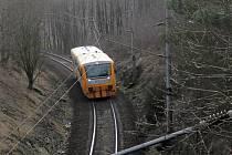 Osobní vlaky mezi Sudoměřicemi a Táborem jezdí do 24. března kyvadlově po jedné traťové koleji.