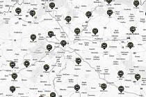 Část mapy kriminality.