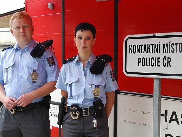 Policisté při Sázavafestu.