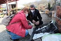 Na Zelený čtvrtek zákazníci vyrazili ve velkém za nákupy - zahradnictví Raud Benešov.